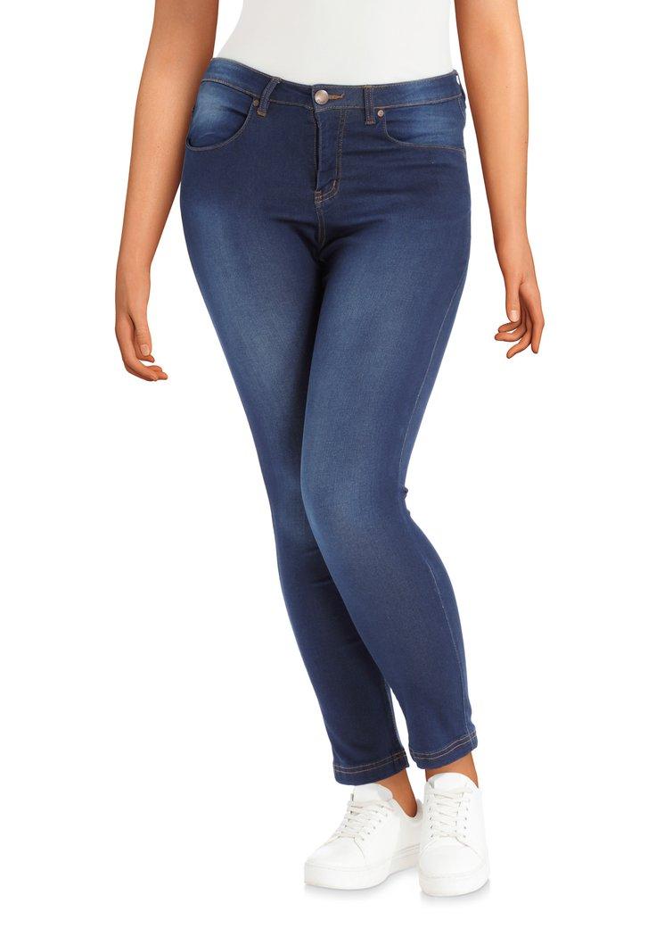 Donkerblauwe denim – regular waist – slim fit