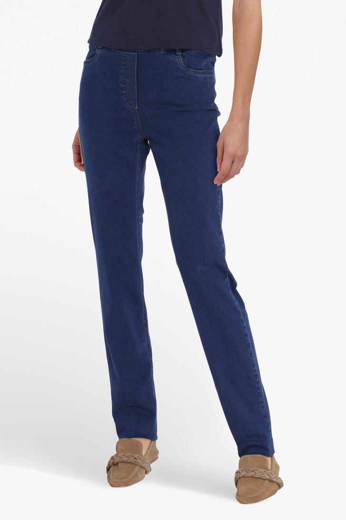 Donkerblauwe denim legging Dames, merk: Claude Arielle
