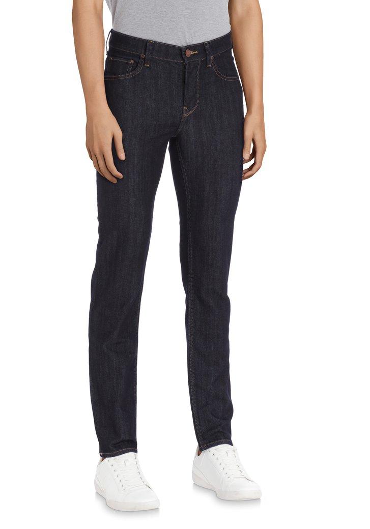 Afbeelding van Donkerblauwe effen jeans - Rider - Slim fit - L32