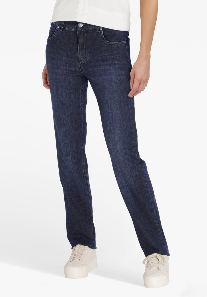 Donkerblauwe jeans – straight fit