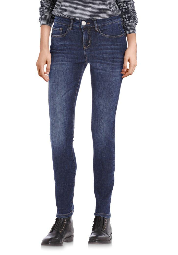 Donkerblauwe jeans enkellengte - slim fit