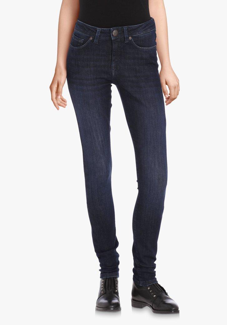 Donkerblauwe jeans met powerstretch – slim fit