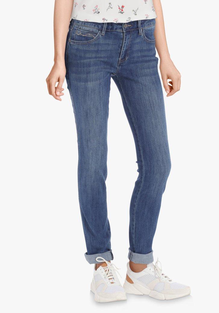 Donkerblauwe jeans met stretch – slim fit