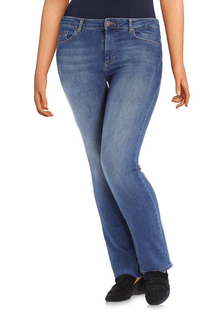 Afbeelding van Donkerblauwe jeans met wassing - regular fit