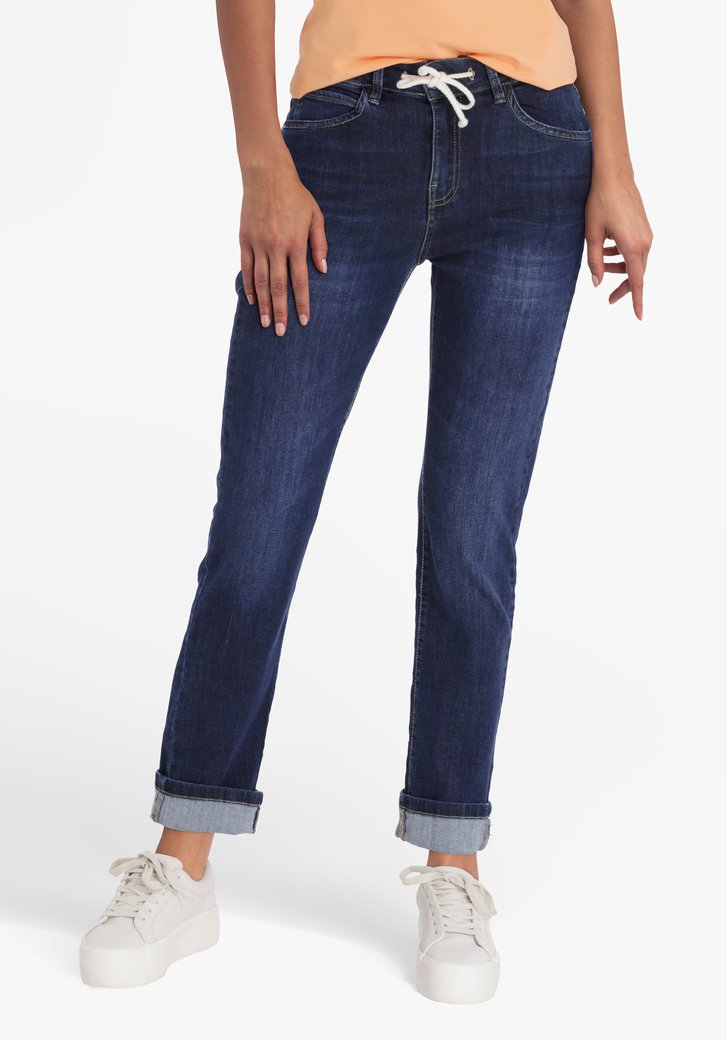 Donkerblauwe jeans - mom fit
