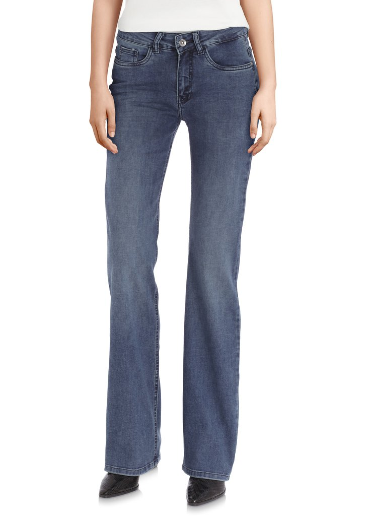 Afbeelding van Donkerblauwe jeans - Whitney - flared fit - L32