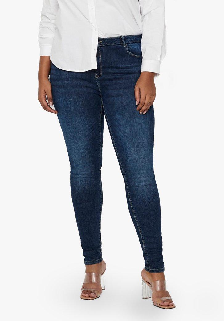 Donkerblauwe jeansbroek - skinny fit