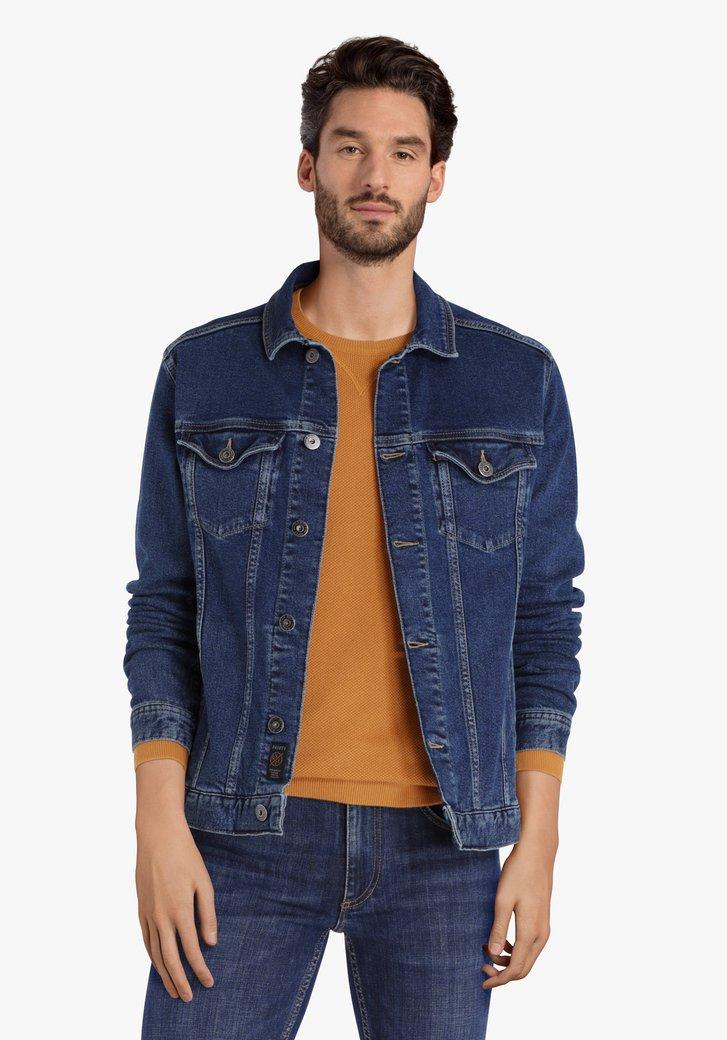 Donkerblauwe jeansjas
