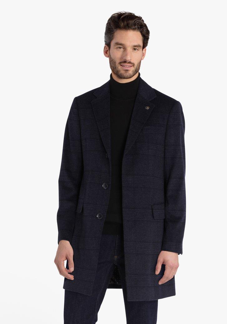 Donkerblauwe mantel