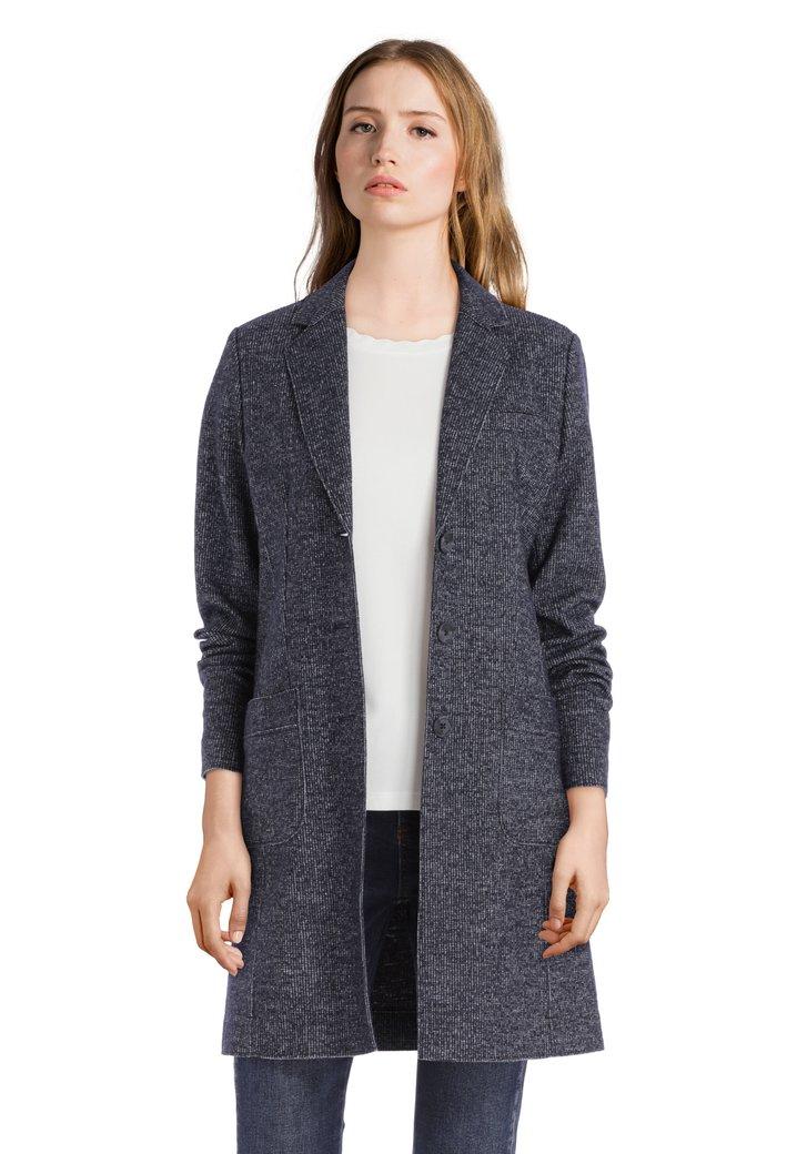 Donkerblauwe mantel met spikkel