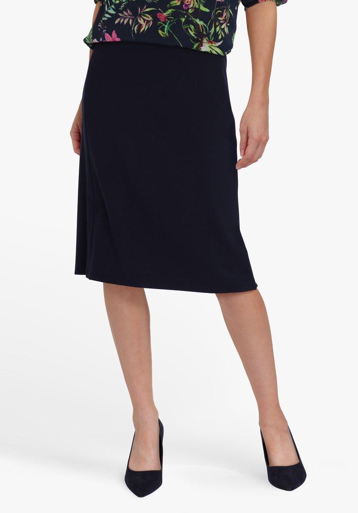 Donkerblauwe rok met elastische taille