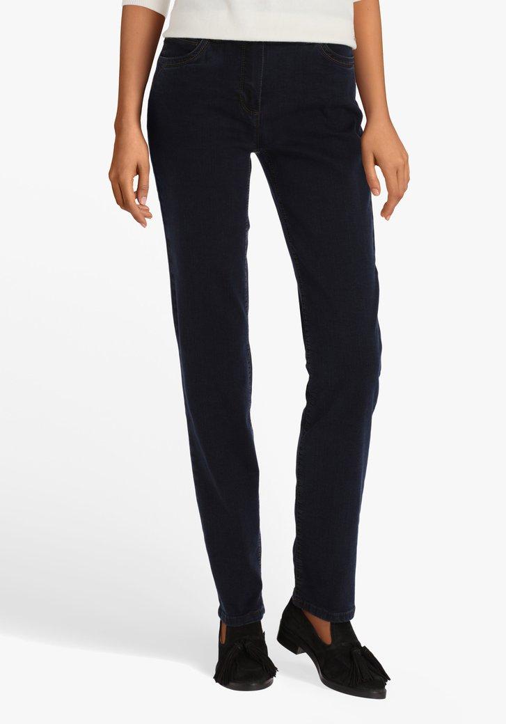 Donkerblauwe stretch jeans - slim fit