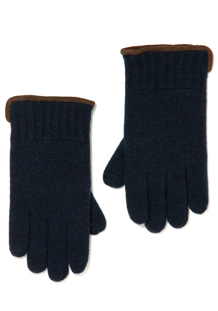Donkerblauwe wollen handschoenen