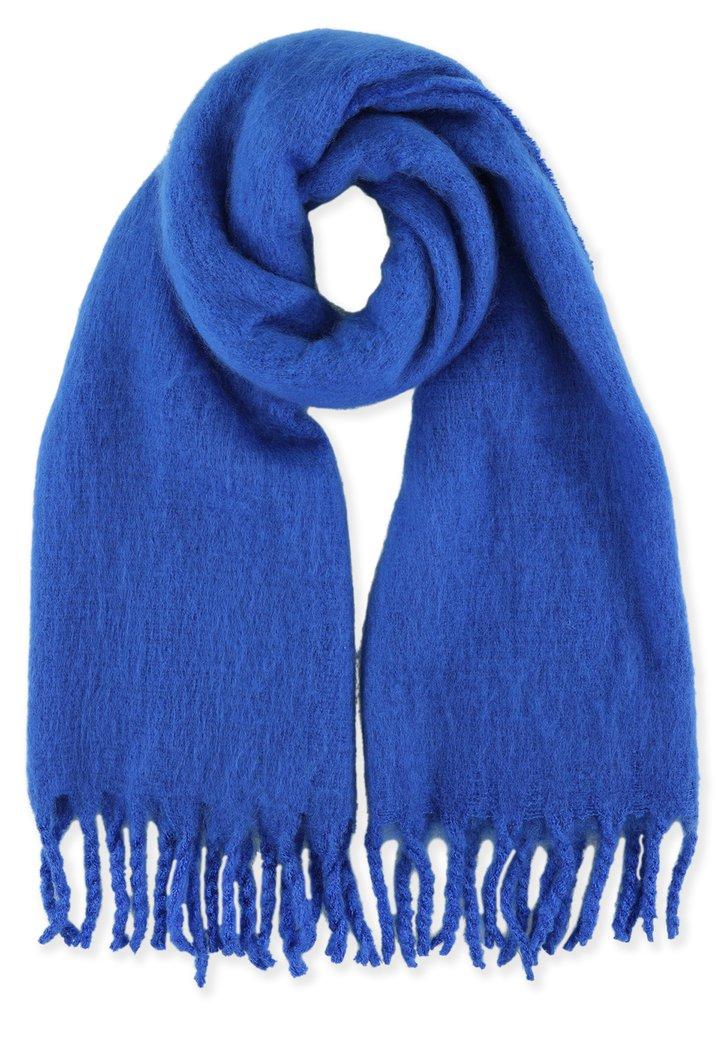 Donkerblauwe zachte sjaal