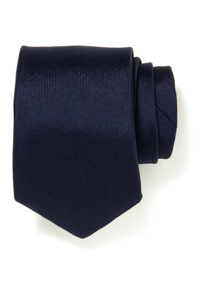 Donkerblauwe zijden das