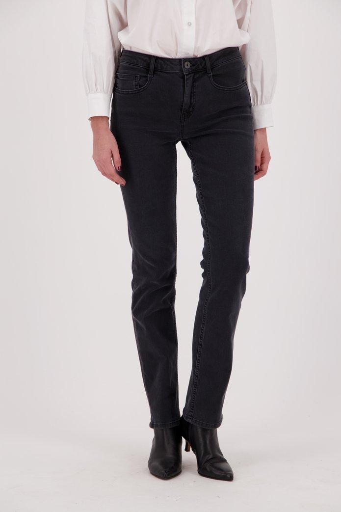 Donkergrijze jeans - Tammy - straight fit - L32