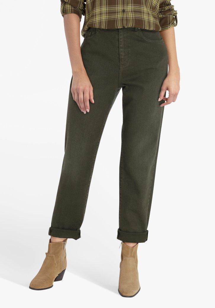 Donkergroene jeans - mom fit