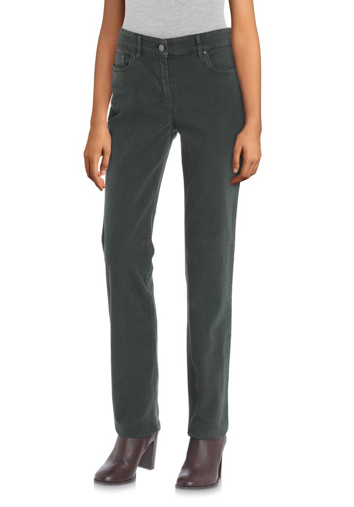 Afbeelding van Donkergroene jeans - straight fit