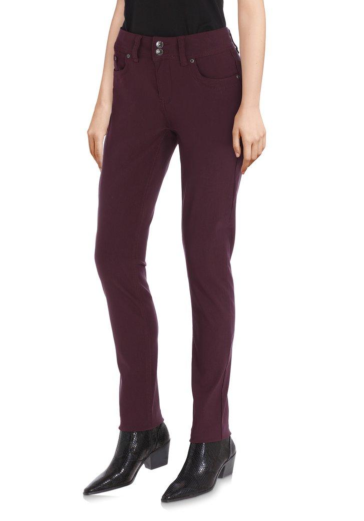 Afbeelding van Donkerpaarse broek - slim fit
