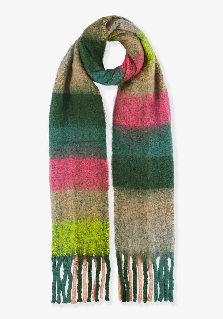 Écharpe à carreaux de différentes couleurs
