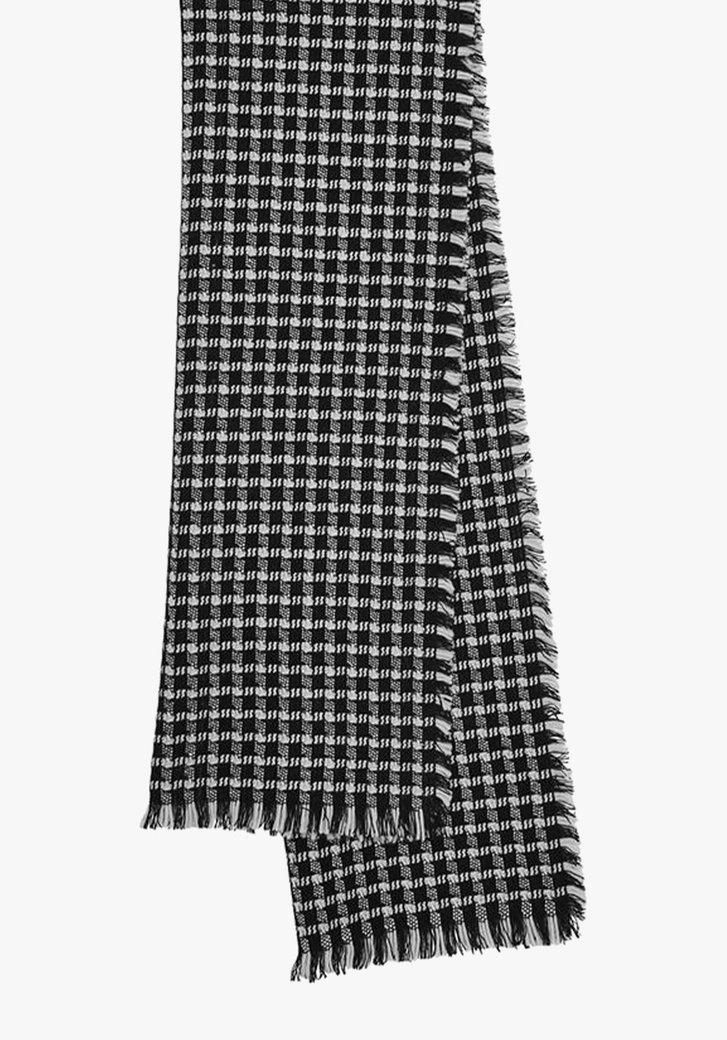 Écharpe à carreaux noirs et blancs