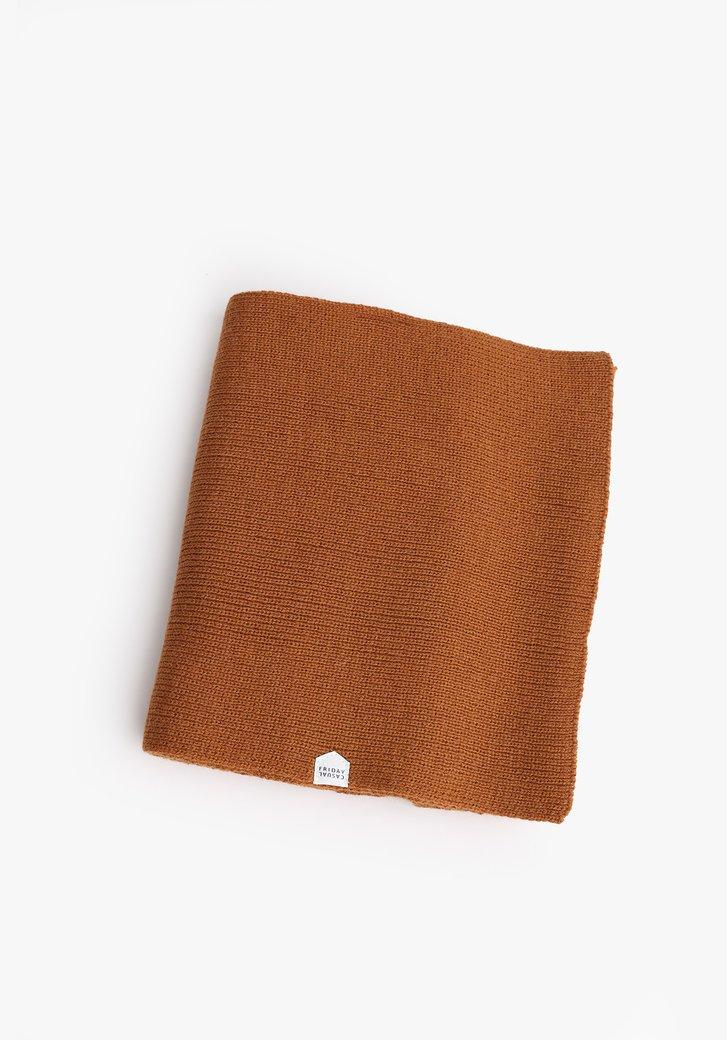 Écharpe brune