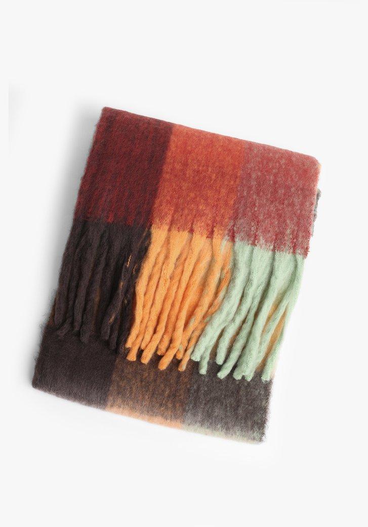 Écharpe coloré avec franges
