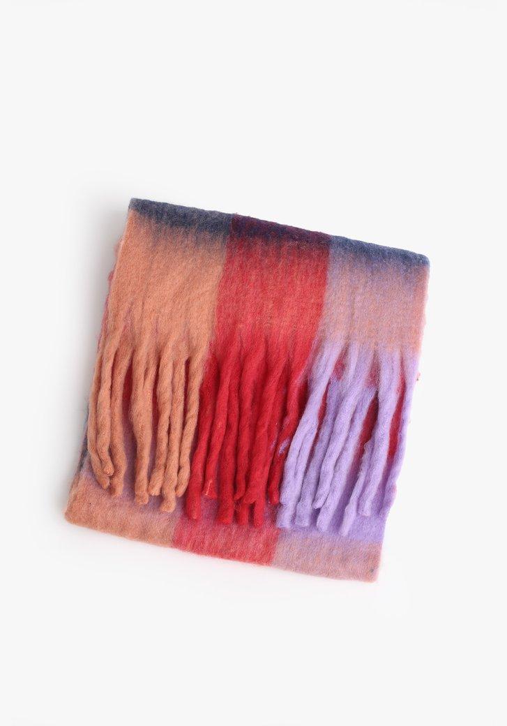 Écharpe colorée avec franges