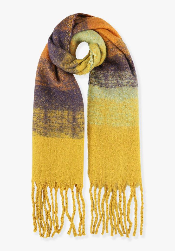 Écharpe jaune avec transition de couleur