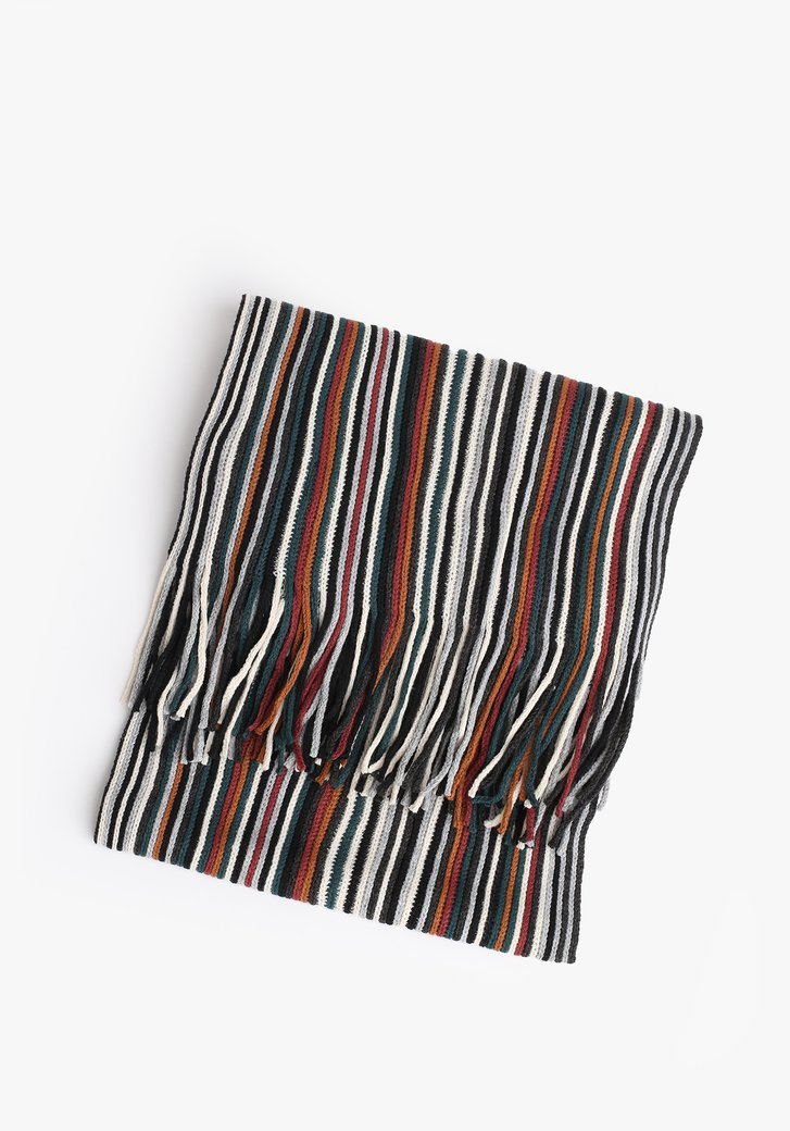 Écharpe rayée avec franges