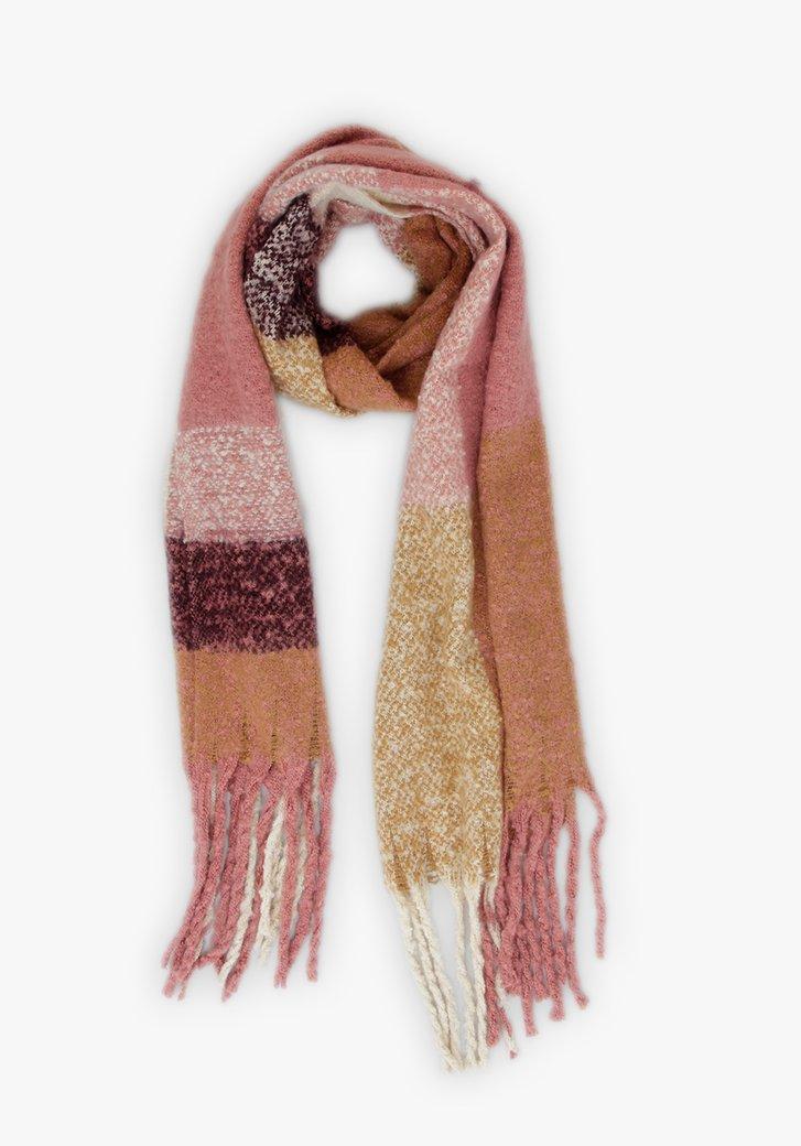 Écharpe rose-brun