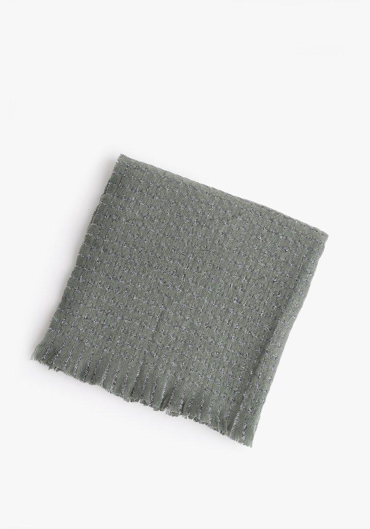 Écharpe verte de mer avec carreaux
