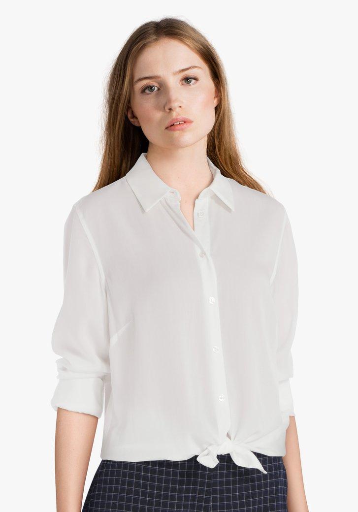 Ecru blouse in viscose en lyocell