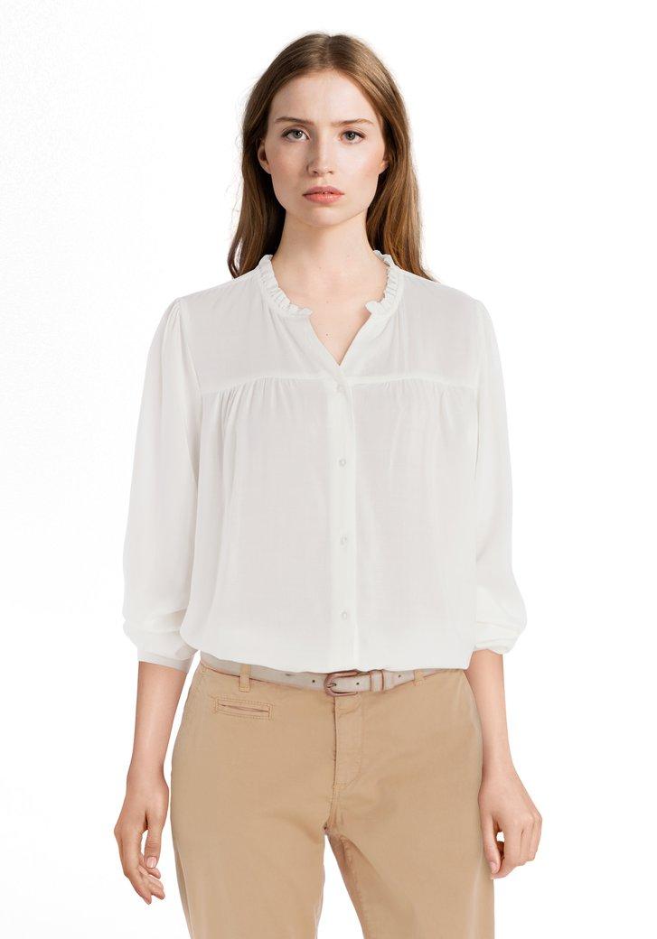 Afbeelding van Ecru blouse met smok