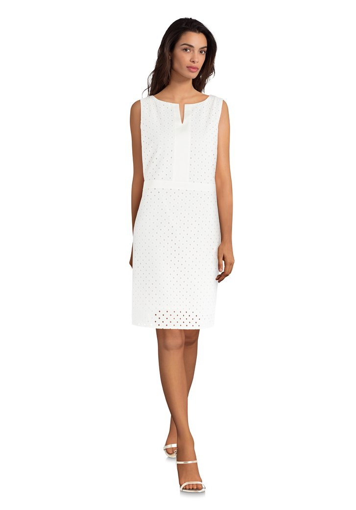 a1c51cef8adc8c Ecru jurk met abstracte print van D Auvry