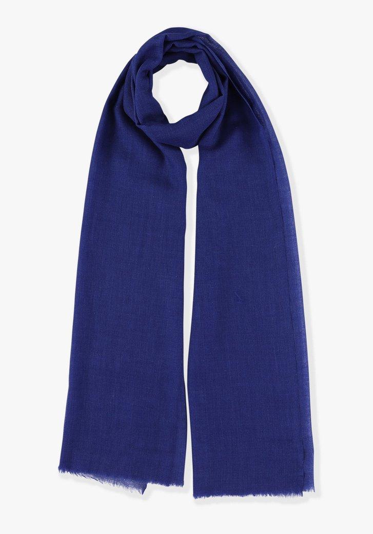 Effen blauwe sjaal