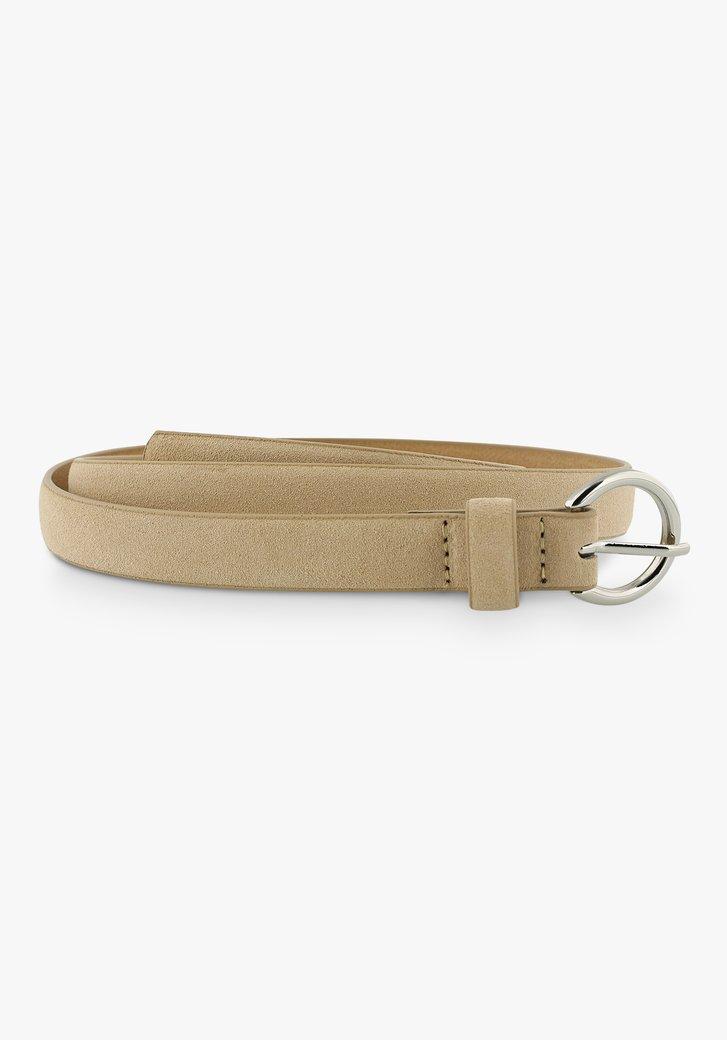 Fine ceinture beige