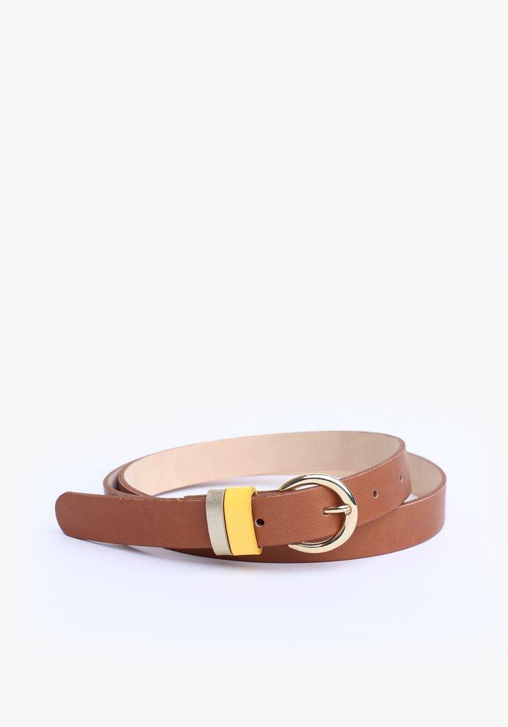 Fine ceinture brune