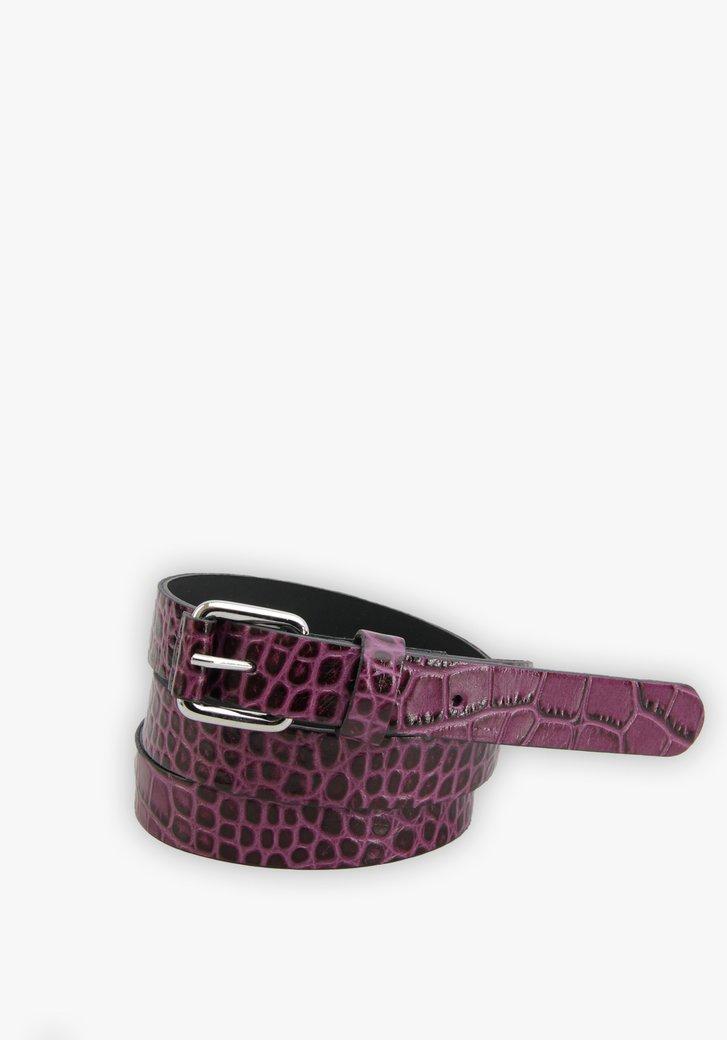Fine ceinture violette à imprimé serpent