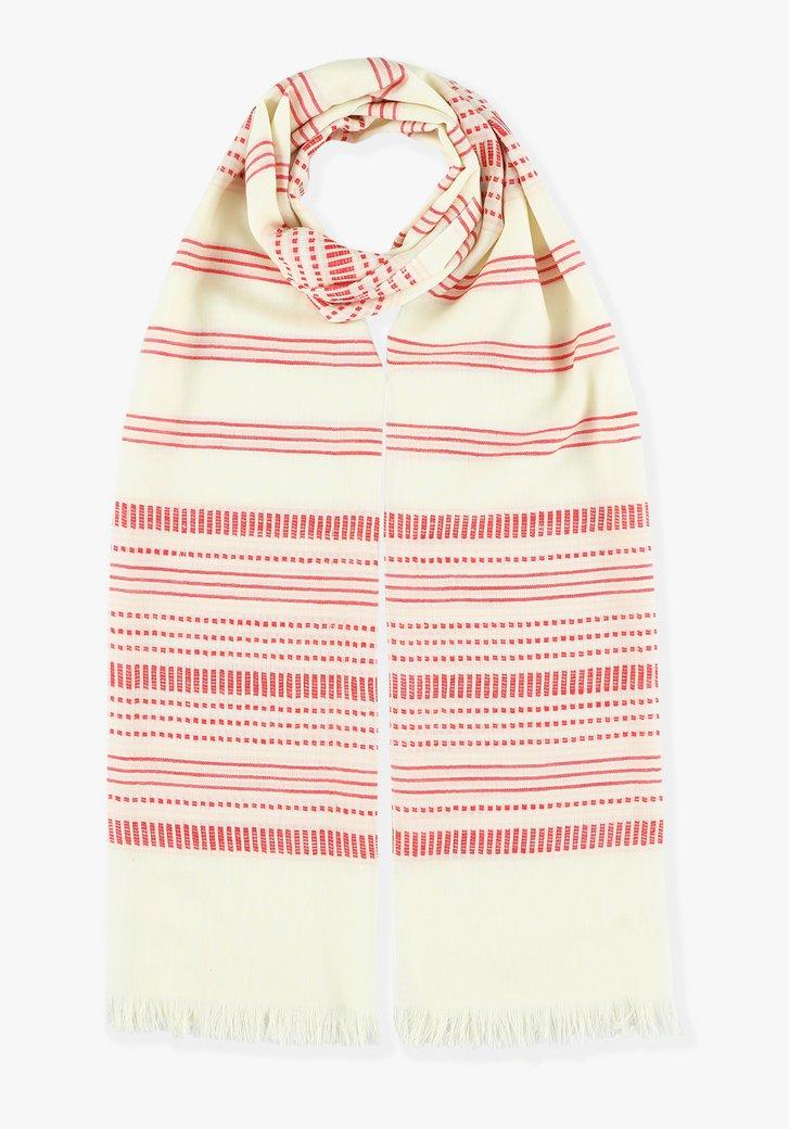Foulard à rayures rouges et blanches