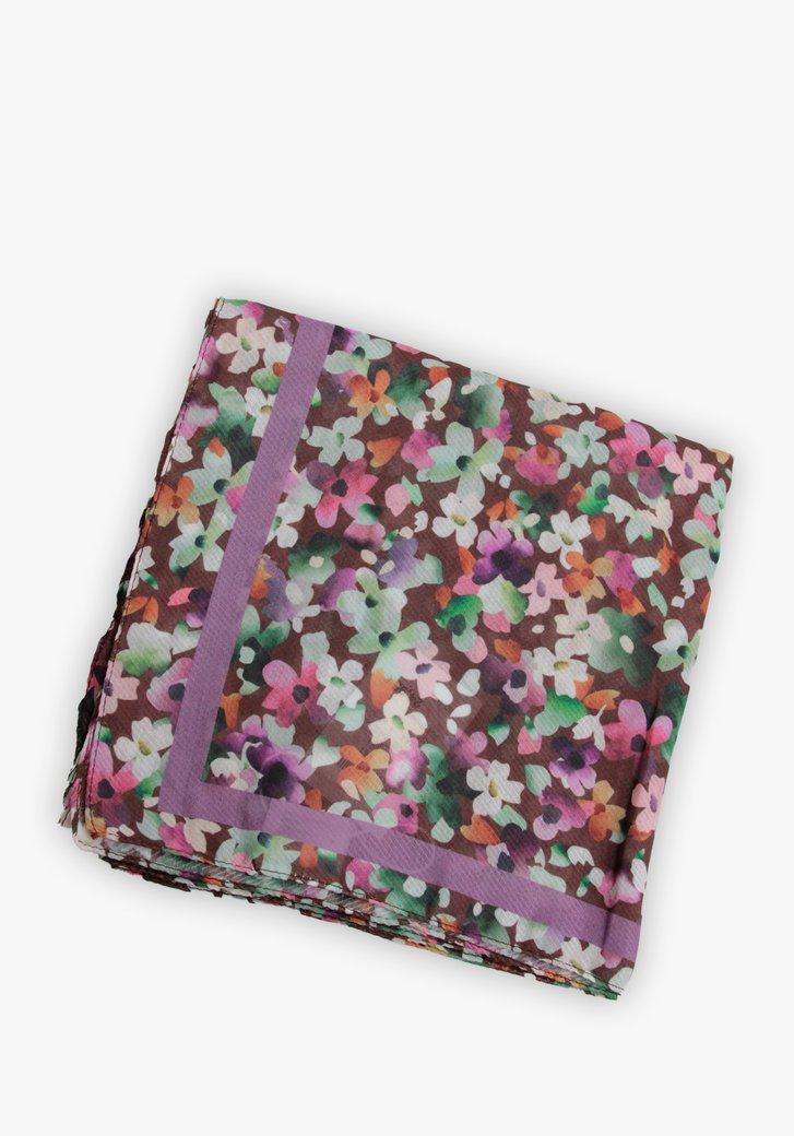 Foulard avec imprimé floral