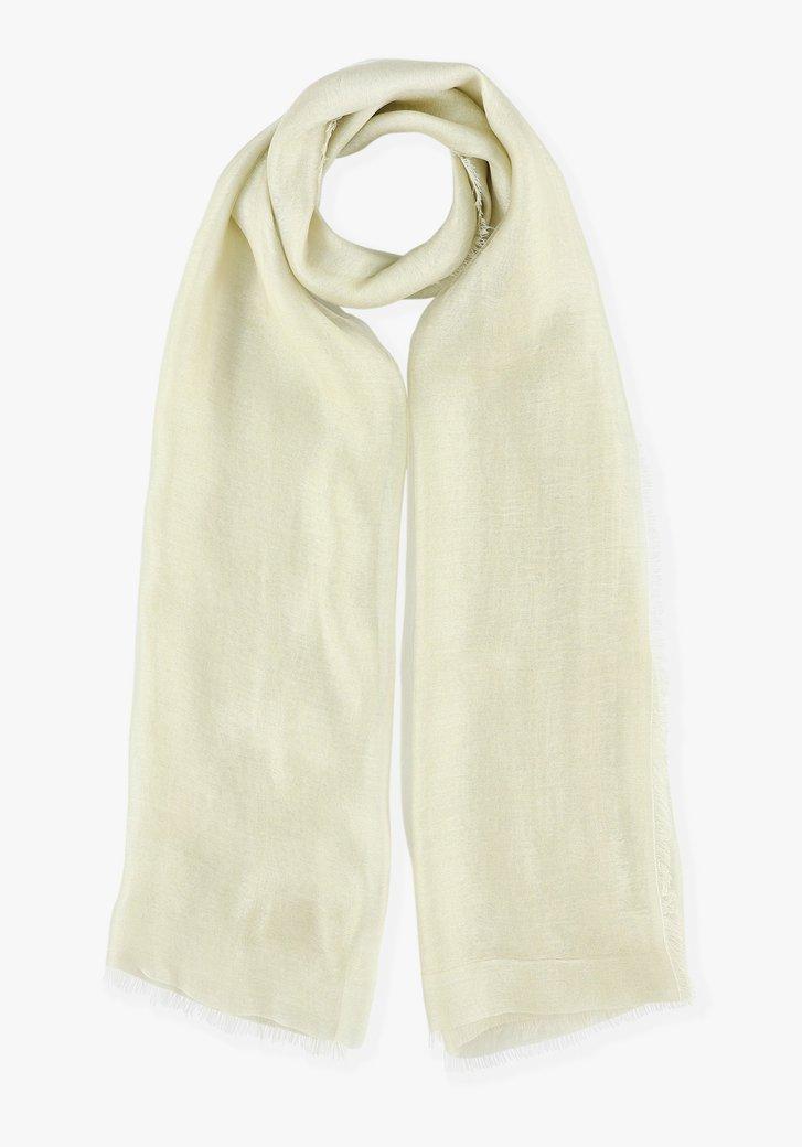 Foulard beige avec de la soie