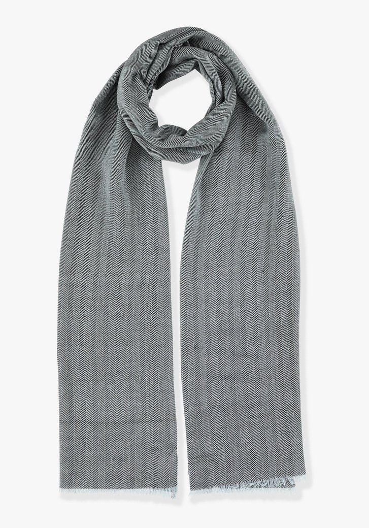 Foulard bleu à motif chevrons