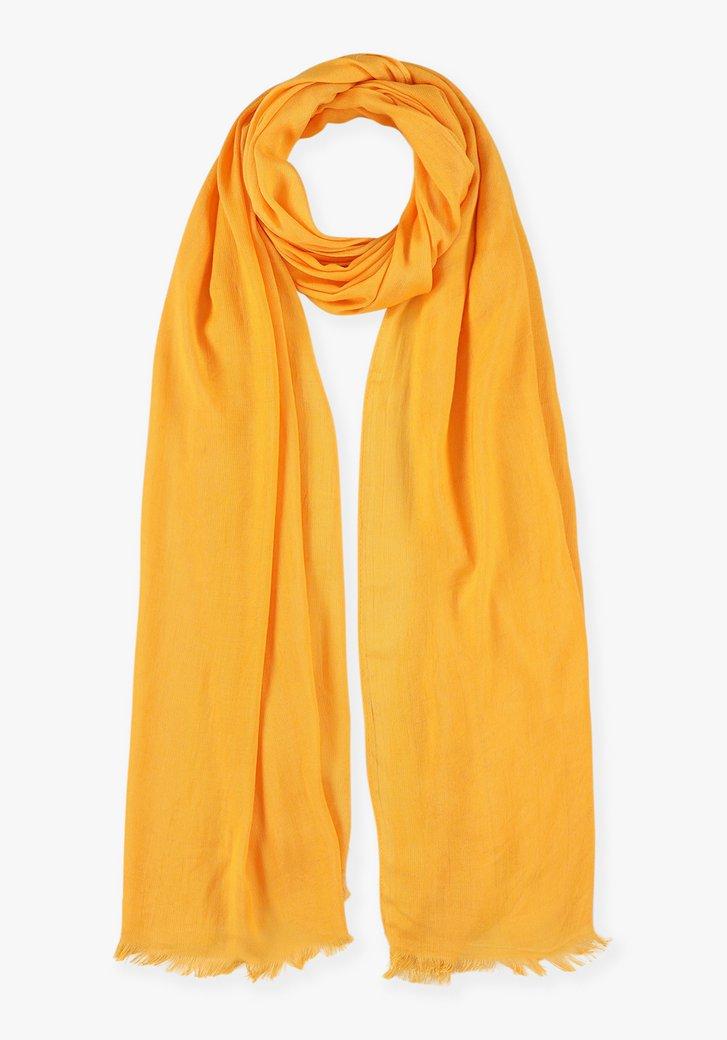 Foulard jaune-orange en viscose