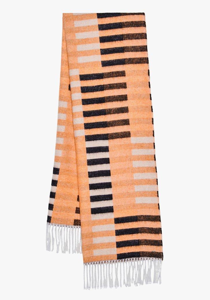 Foulard noir-orange