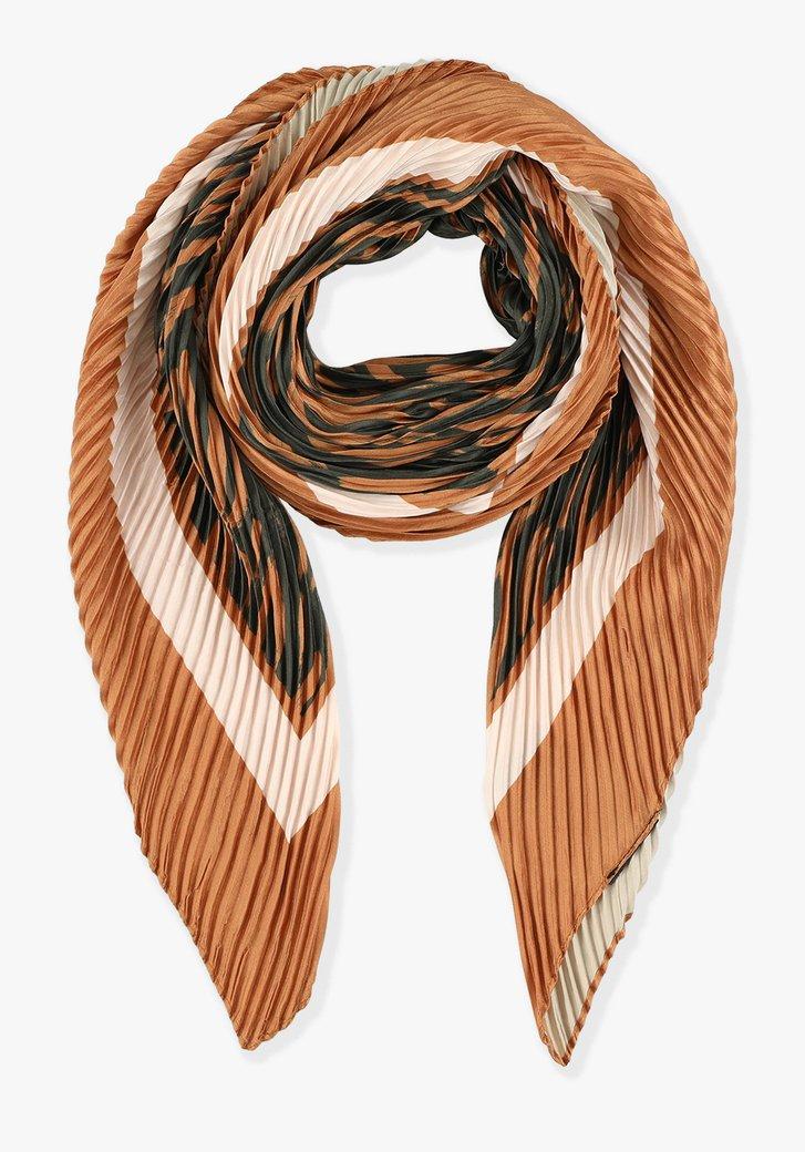 Foulard plissé aux tons de rouille