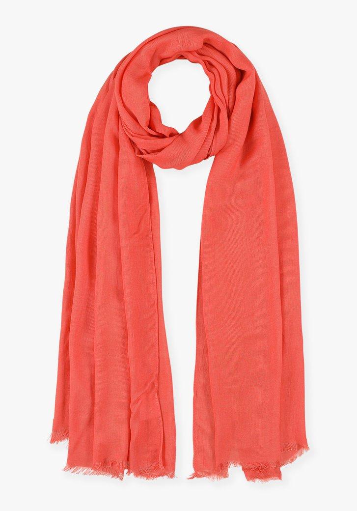 Foulard rouge orange en viscose
