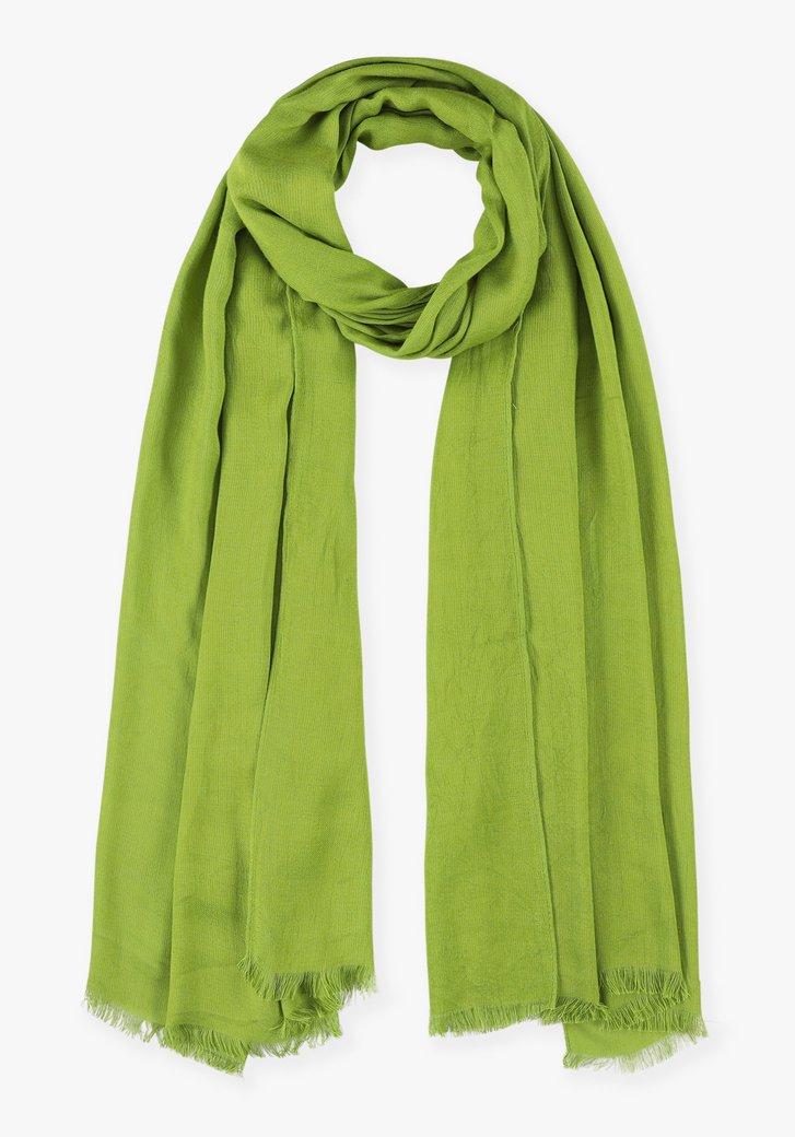 Foulard vert en viscose