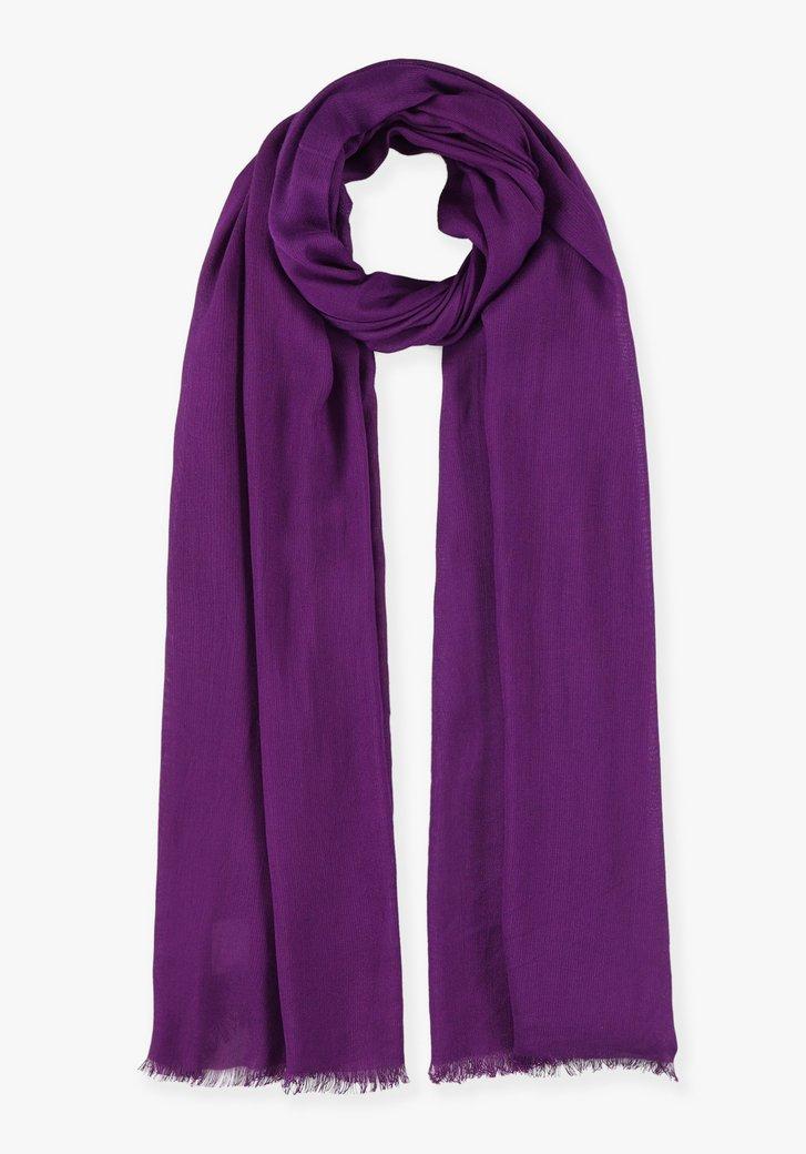 Foulard violet en viscose