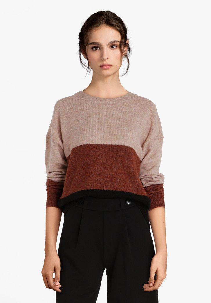 Gebreide trui in 3 kleuren